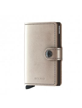 Secrid Miniwallet Metalic Champagne Brown