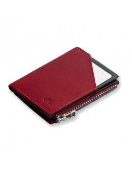 ROIK WALLET RFID Zip Coin burgundy