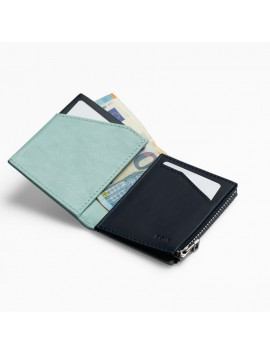 ROIK WALLET RFID Zip Coin blue cloud