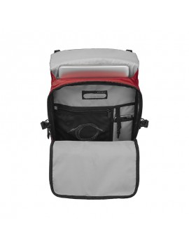 "Flapover 15.6"" Laptop Backpack red"