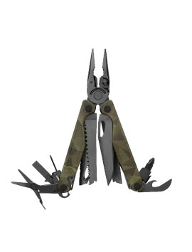 Leatherman CHARGE Plus Camo with metric bits and premium holster