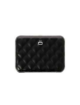 Ogon Quilted Button RFID Wallet black