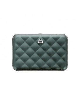 Ogon Quilted Button RFID Wallet platinum
